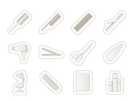drier: hairdressing, coiffure and make-up icons