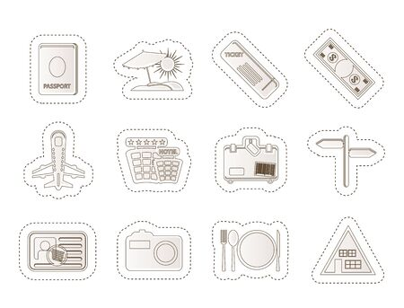 Simple Travel and trip Icons Stock Vector - 14120771