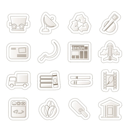 Business and industry icons  Stock Vector - 14120777