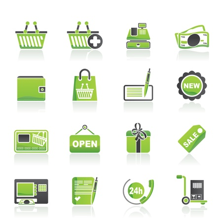 add button: shopping and retail icons