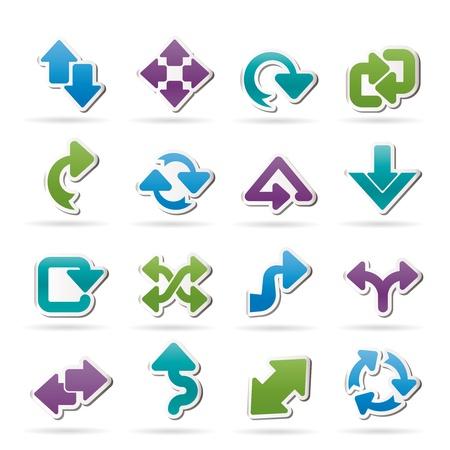 flecha derecha: diferentes tipos de iconos de flechas