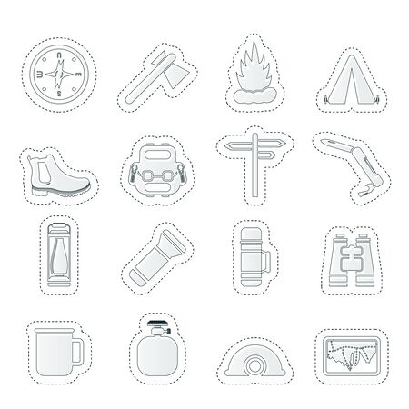 Tourism and Holiday icons Stock Vector - 14221623