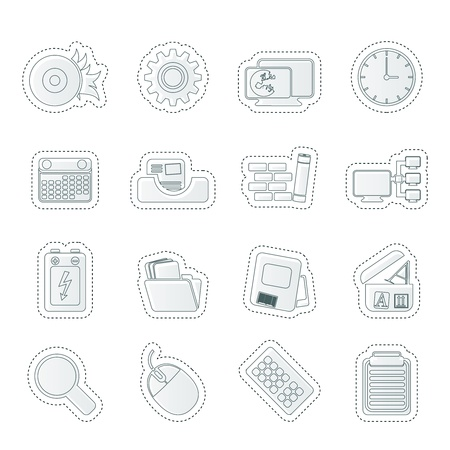 Computer, mobile phone and Internet  Vector