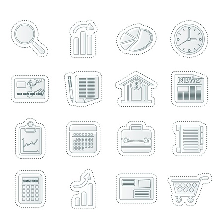shopping button: Business and Office Internet Icons
