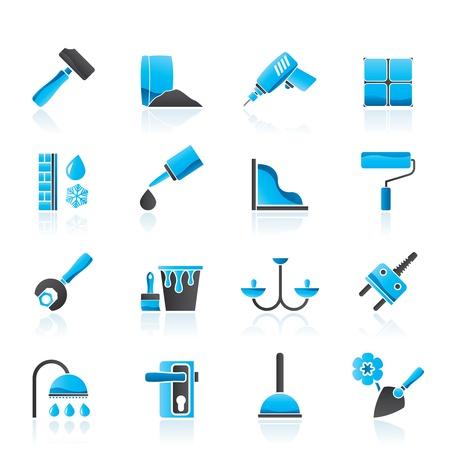 szigetelés: Építő- és szerelőipari berendezések Icons