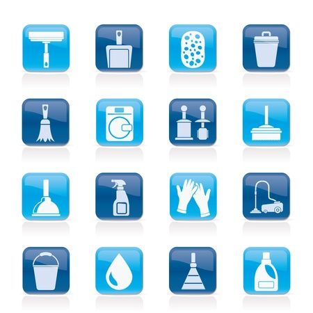 mopping: Cleaning and hygiene icons