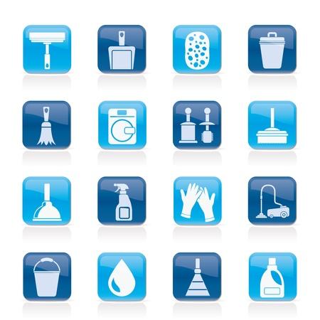 seau d eau: Ic�nes de nettoyage et d'hygi�ne