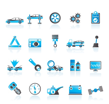 car services and transportation icons Stock Vector - 14221657