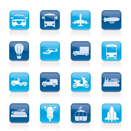 blimp: Transporte y Viajes iconos Vectores