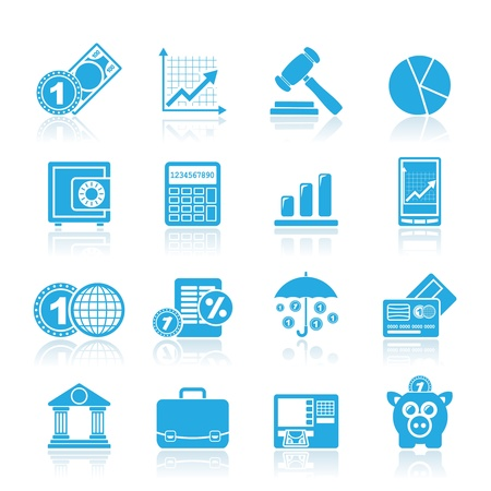 banking and finance: Business and finance icons - icon set