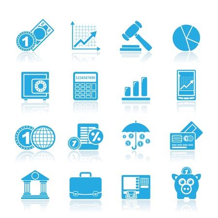 atm card: Negocios y finanzas iconos - conjunto de iconos