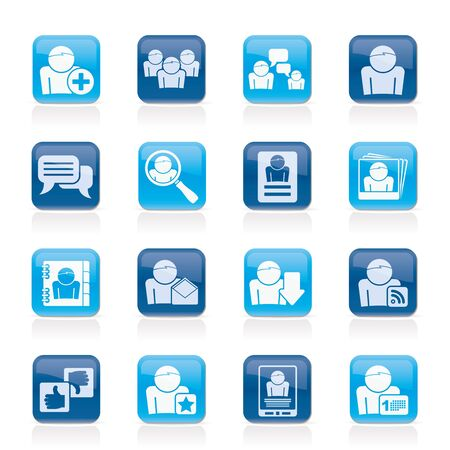 Social Media and Network icons - icon set Stock Vector - 14330272