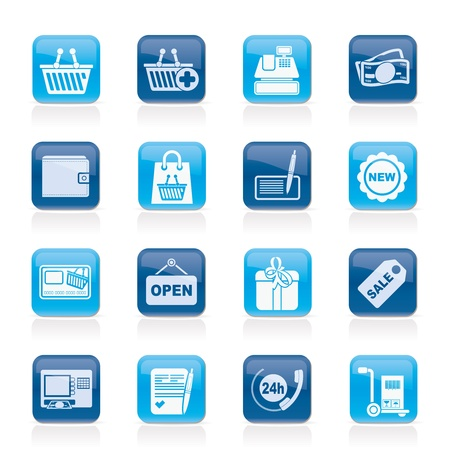 shopping and retail icons - icon set