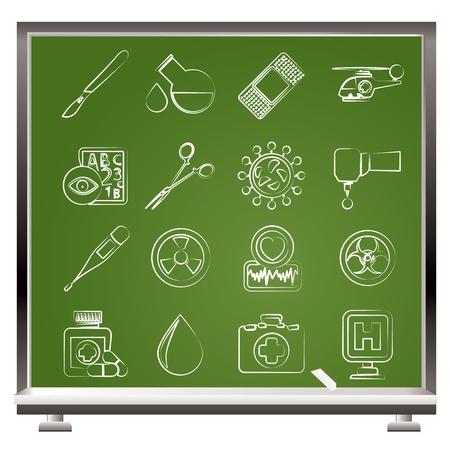spital ger�te: Medizin und Krankenhaus-Icons - Icon-Set