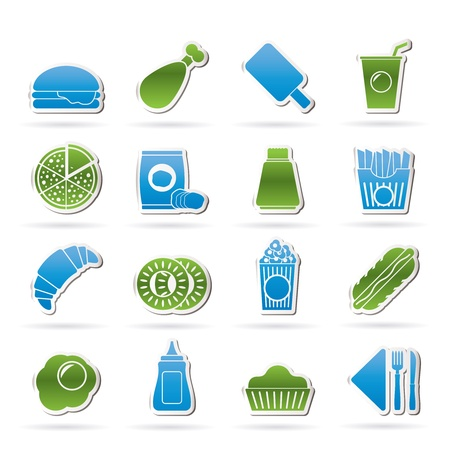 fast food and drink icons - icon set Vector