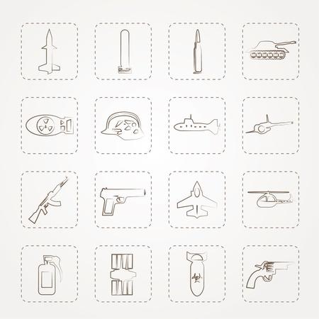 bombe atomique: Arme simple, les bras et les icônes de guerre