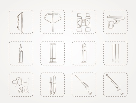 arbalest: Hunting and arms Icons Illustration