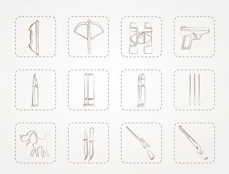 armbrust: Jagd und Waffen Icons