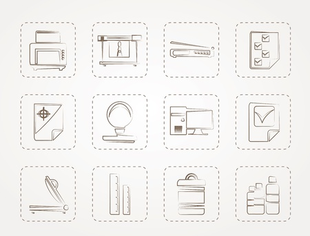 guillotine: Print industry Icons  Illustration