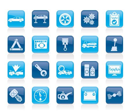 tow: car services and transportation icons - vector icon set Illustration