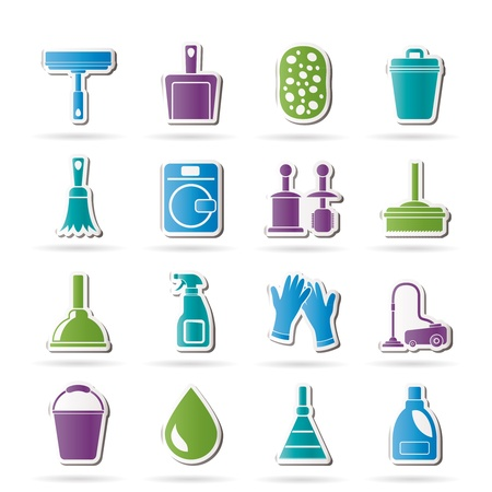 cleaner vacuuming: Cleaning and hygiene icons