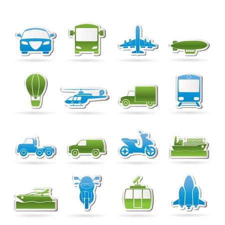 Icônes de transport et de voyage