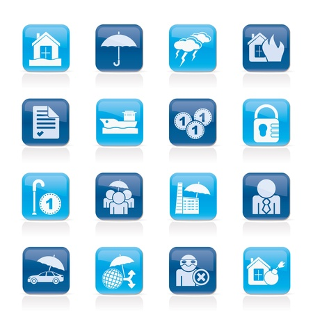 risk icons icon set Vector