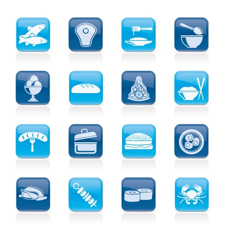 Different kind of food icons - vector icon set Vector