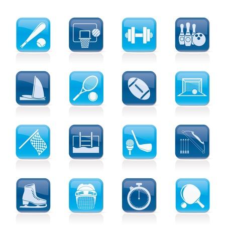 swim race: Objetos Deporte iconos - Vector Icon Set Vectores