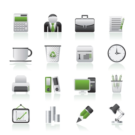 Business and office icons - vector icon set Stock Vector - 14771336
