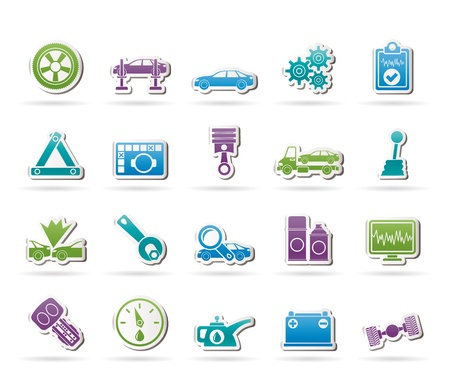 service car: car services and transportation icons -   icon set