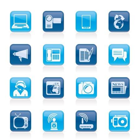 Communication and Technology icons - Icon Set Illustration
