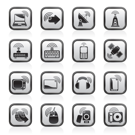 wireless and technology icons Stock Vector - 14887039