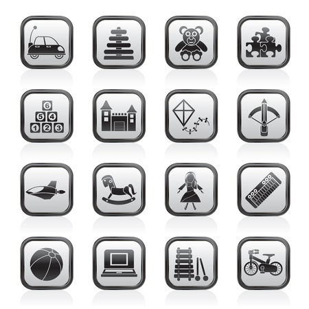 arbalest: different kind of toys icons