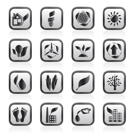 industry background: environment and nature icons