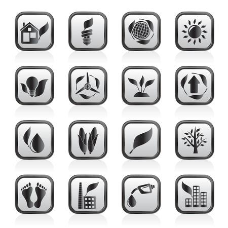 maison solaire: ic�nes de l'environnement et de la nature Illustration