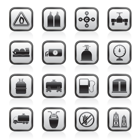 Natural gas objects and icons Stock Vector - 14887032