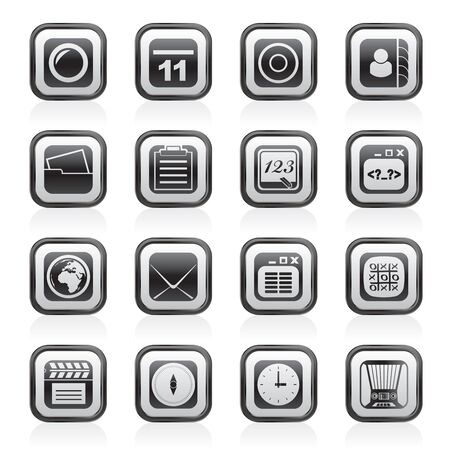 digital book: Mobile Phone and communication icons