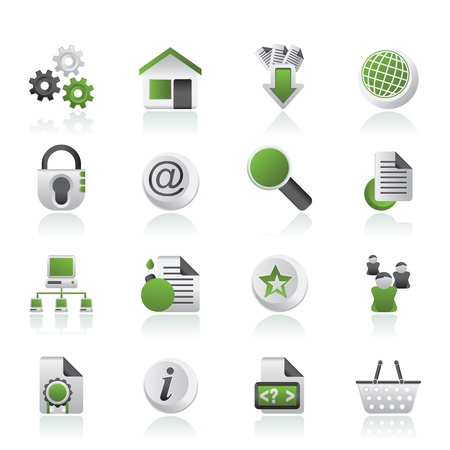 web service: Website and internet icons