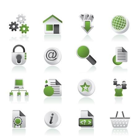 website: Websitenutzung und der Internetnutzung Symbole Illustration
