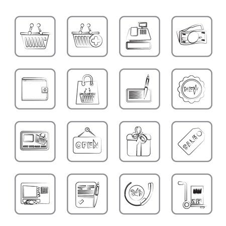 shopping and retail icons Stock Vector - 14887028