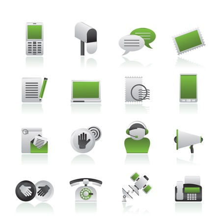 Contact and communication icons Stock Vector - 14887043