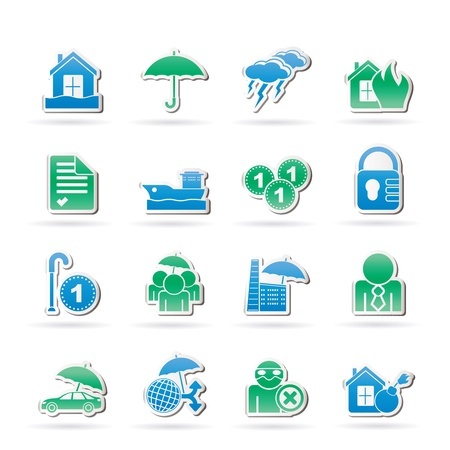 Insurance and risk icons Stock Vector - 14887042