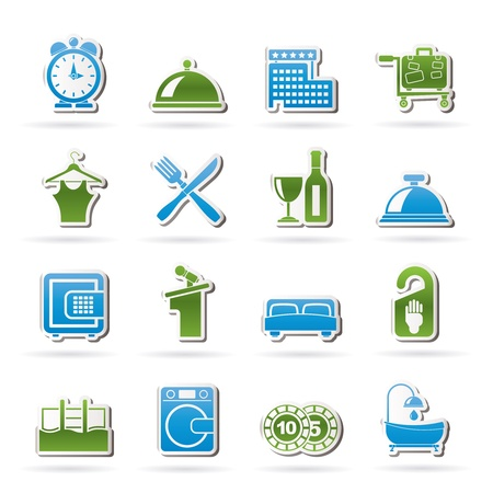 chip set: Hotel and motel icons Illustration