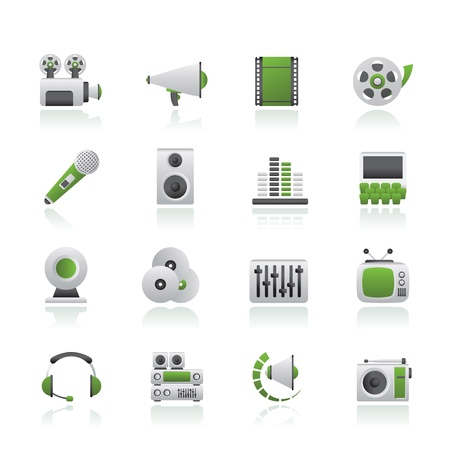 Audio and video icons