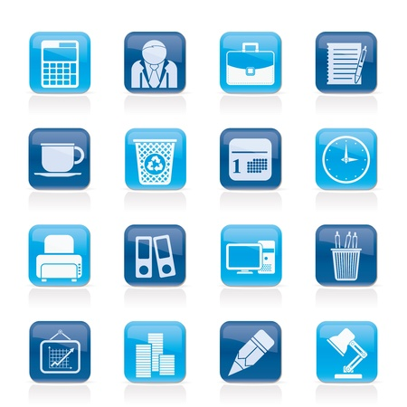 Business and office icons Stock Vector - 14993036