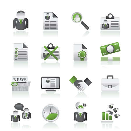 Employment and jobs icons - vector icon set Stock Vector - 15073856