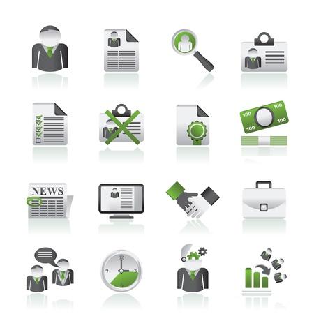 the job site: Icone di occupazione e posti di lavoro - set di icone vettoriali