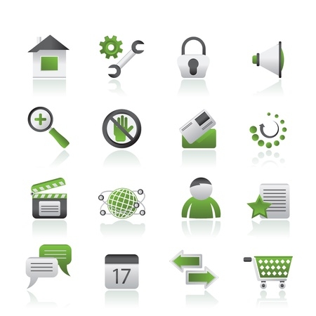 security equipment: Website and internet icons - vector icon set Illustration