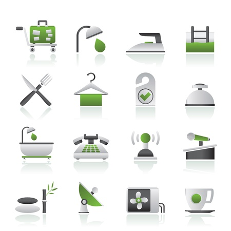 travel phone: Hotel and motel icons - Vector icon Set